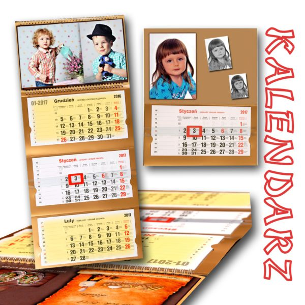 foto kalendarz  trójdzielny