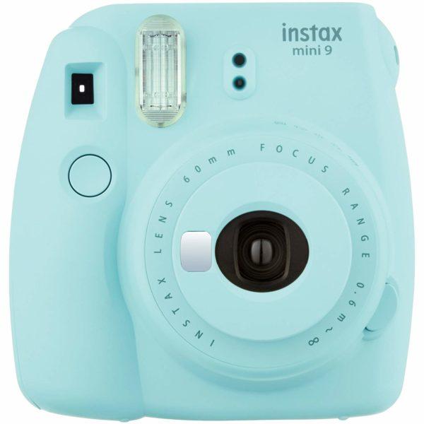 Instax Mini 9 Instant Camera Smokey White + 10 wkładów i obiektyw