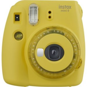 Instax Mini 9 Instant Camera Clear Yellow + 3 Filtry i obiektyw